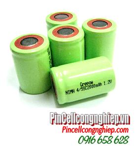 NiMh 4/5SC2000mAh, Pin sạc công nghiệp 1.2v NiMh 4/5SC2000mAh