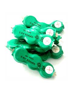 Pin sạc 3.6v-80mAh(3/V80H), Pin sạc công nghiệp NiMh-NiCd 3.6v-80mAh(3/V80H)