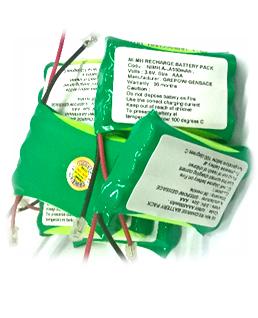 Pin sạc 3.6v-AAA500mAh, Pin sạc công nghiệp NiMh-NiCd 3.6v-AAA500mAh