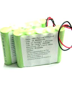 Pin sạc 6v-AA2300mAh, Pin sạc công nghiệp NiMh-NiCd 6v-AA2300mAh