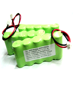 Pin sạc 6v-C2500mAh, Pin sạc công nghiệp NiMh-NiCd 6v-C2500mAh