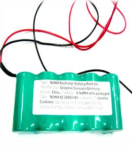 Pin sạc 6v-SC3400mAh, Pin sạc công nghiệp NiMh-NiCd 6v-SC3400mAh