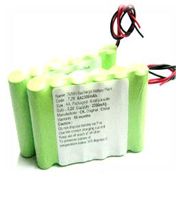 Pin sạc 7.2v-AA2200mAh, Pin sạc công nghiệp NiMh-NiCd 7.2v-AA2200mAh